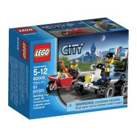 City Police ATV Set LEGO 60006 - Walmart.com
