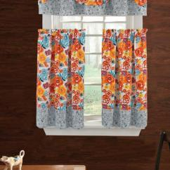 Kitchen Drapes Faucets For Curtains Product Image The Pioneer Woman Flea Market 3pc Curtain And Valance Set