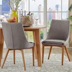 Barrel Dining Chairs Set Of 2 Bedroom Chair Walmart Inspire Q Sasha Oak Back