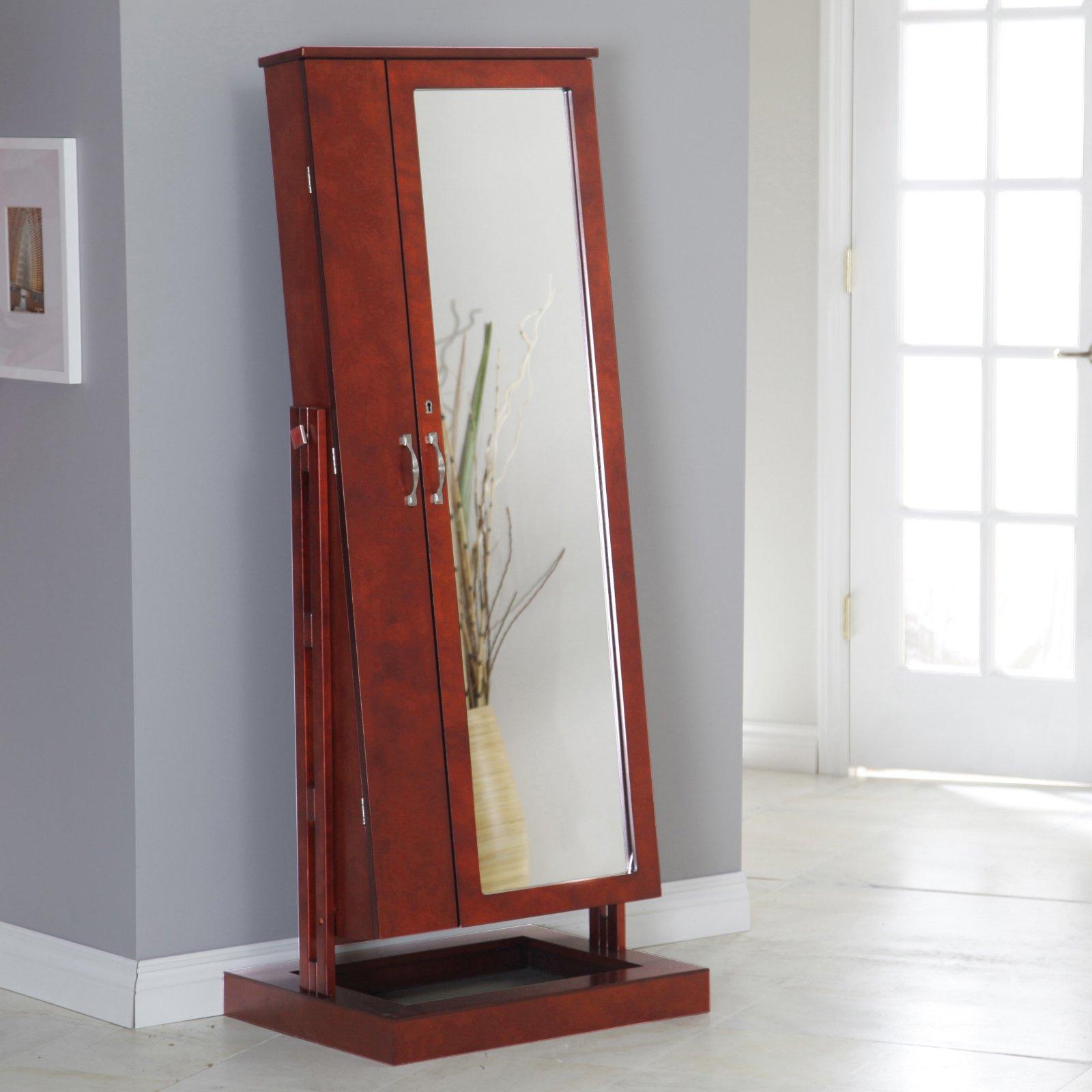 belham living bordeaux locking cheval mirror jewelry armoire
