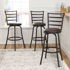 Steel Chair Size Gym Workout New Mainstays Adjustable Height Swivel Bar Stool Set Of 3