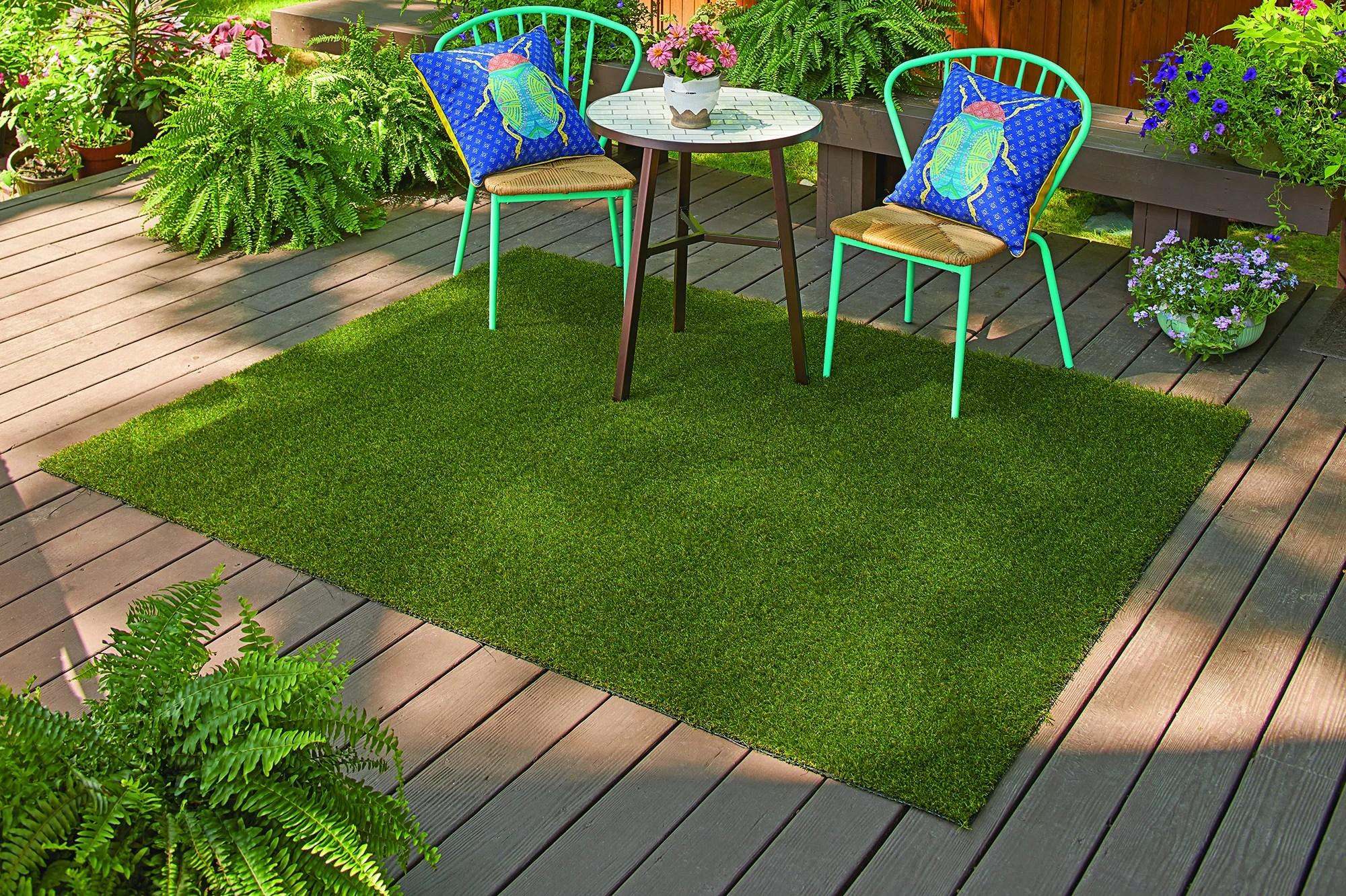 better homes gardens faux grass rug 36 x 60