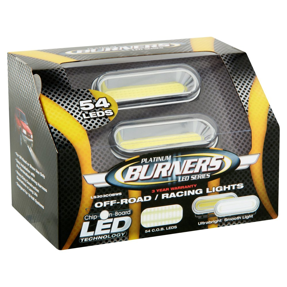 medium resolution of platinum burners led series off road racing lights 54 count walmart com