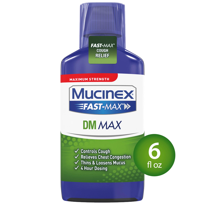 Mucinex Fast-Max DM Maximum Strength Cough Suppressant and ...