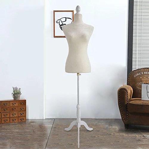 mannequin chair stand cross back dining chairs ktaxon fiberglass female torso clothing display w white khaki black tripod walmart com