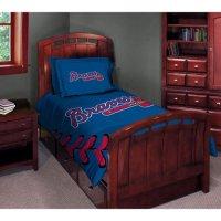 MLB - Atlanta Braves Comforter Set - Twin Bed - Walmart.com