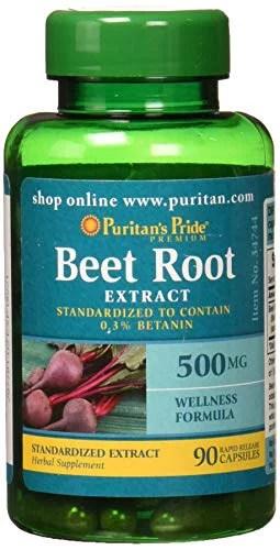 Puritans Pride Beet Root Extract 500mg 90 Count - Walmart ...