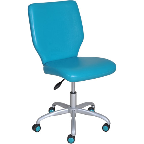 turquoise office chair barber chairs under 100 mainstays multiple colors walmart com