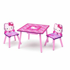 Hello Kitty Desk Chair Folding Deck Chairs Ikea Toddler Table And Set With Storage Walmart Com