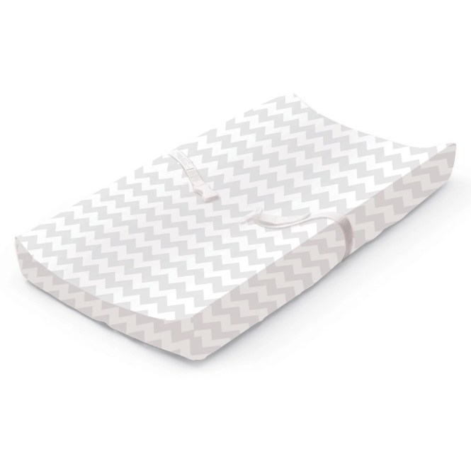 Summer Infant Ultra Plush Changing Pad Cover Gray Chevron