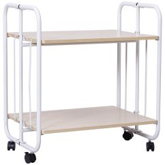 Kitchen Serving Cart Cabinet Pantry Gymax Folding 2 Tier Rolling Utility Steel Shelves Storage Walmart Com
