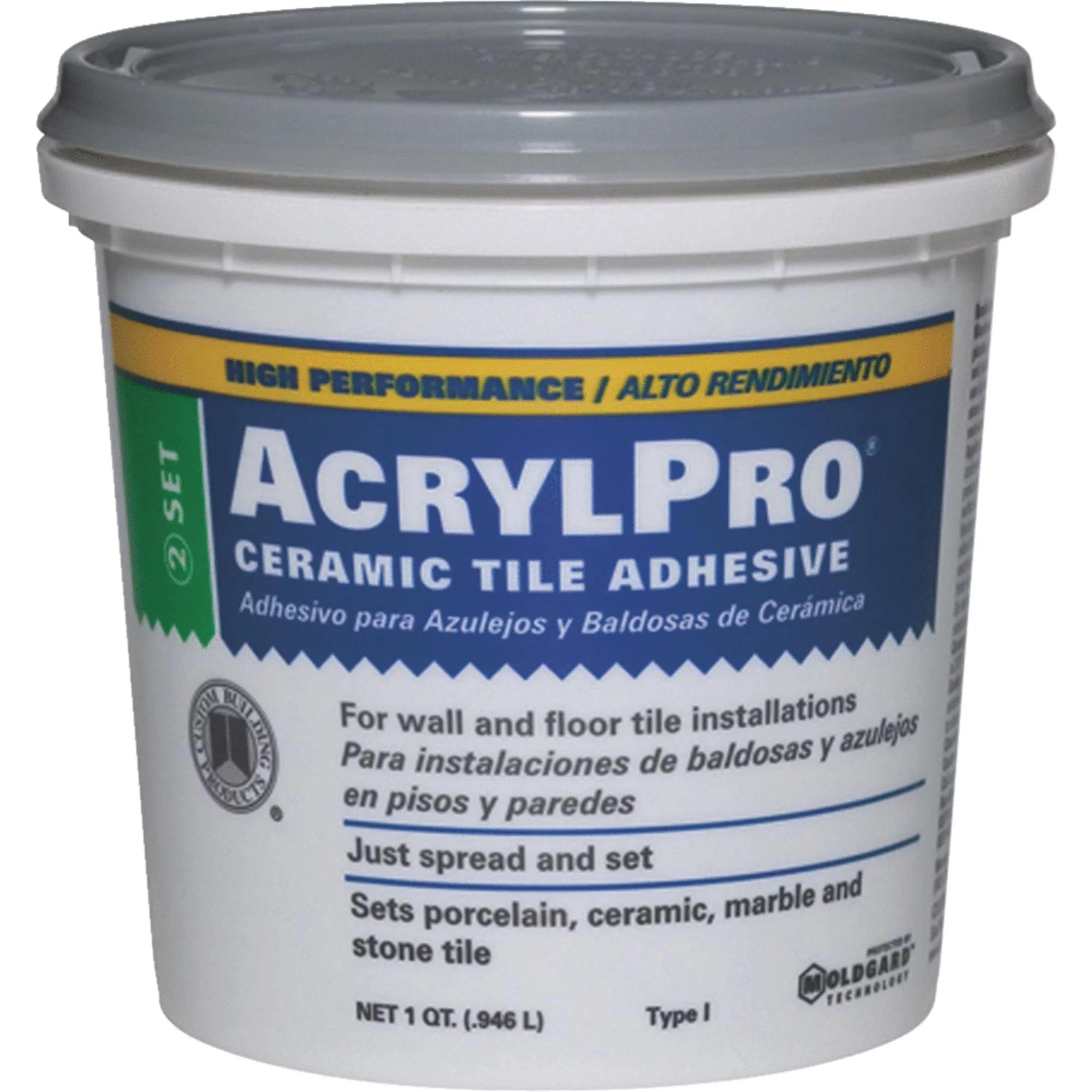 acrylpro ceramic tile mastic walmart com