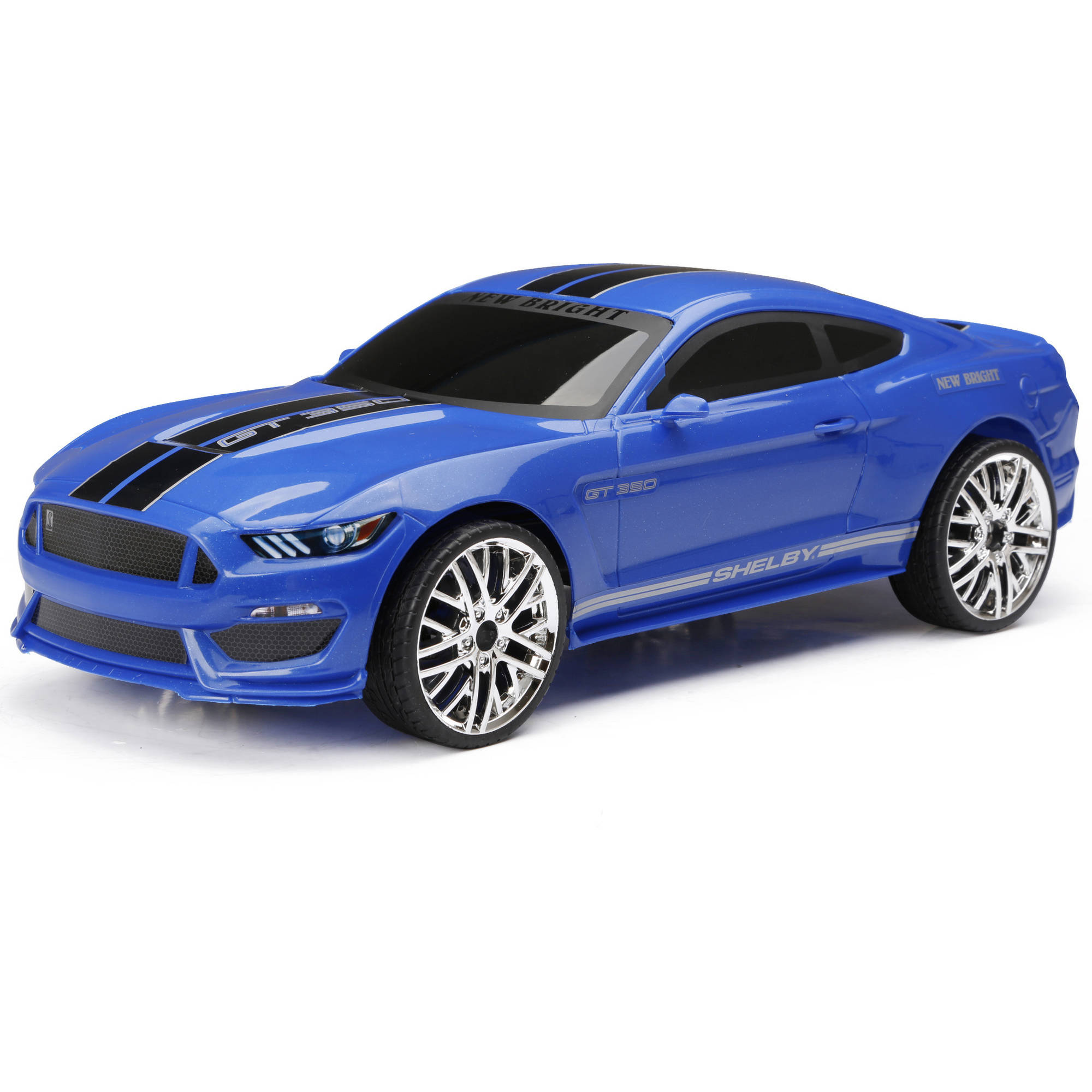 New Bright R C Chargers Mustang Car Blue Walmart