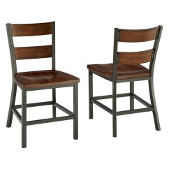 Distressed Kitchen Chairs Changing Hinges On Cabinets Home Styles Cabin Creek 2 Piece Dining Chair Set Chestnut Walmart Com