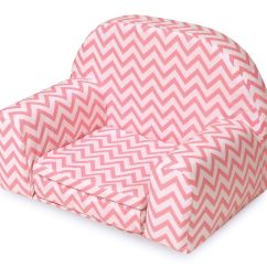 American Doll Chair Reclining Massage Badger Basket Upholstered With Foldout Bed Pink Chevron Fits Girl My Life As Most 18 Dolls Walmart Com