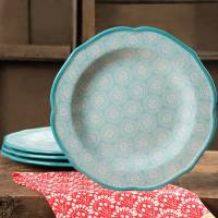 "The Pioneer Woman Hyacinth 10.5"" Dinner Plate Set, Set of ..."