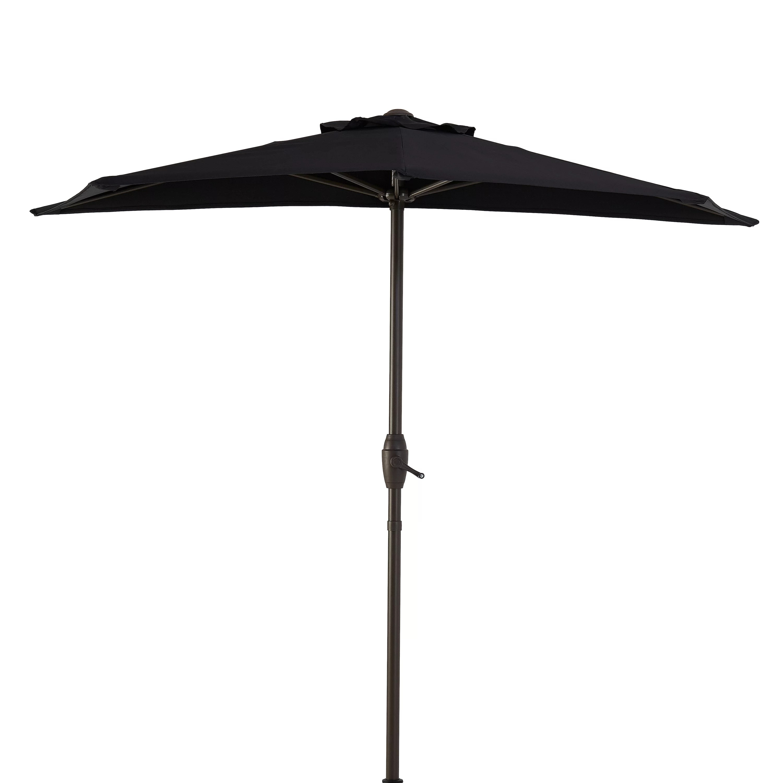 mainstays hillwood 7 black half round patio umbrella