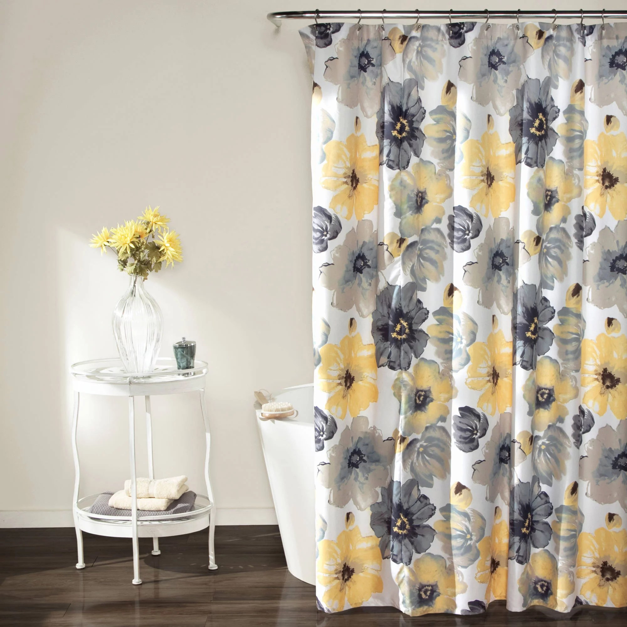 sunflower decor shower curtain set helianthus sunflowers against weathered aged fence summer garden photo print bathroom accessories 69w x 70l
