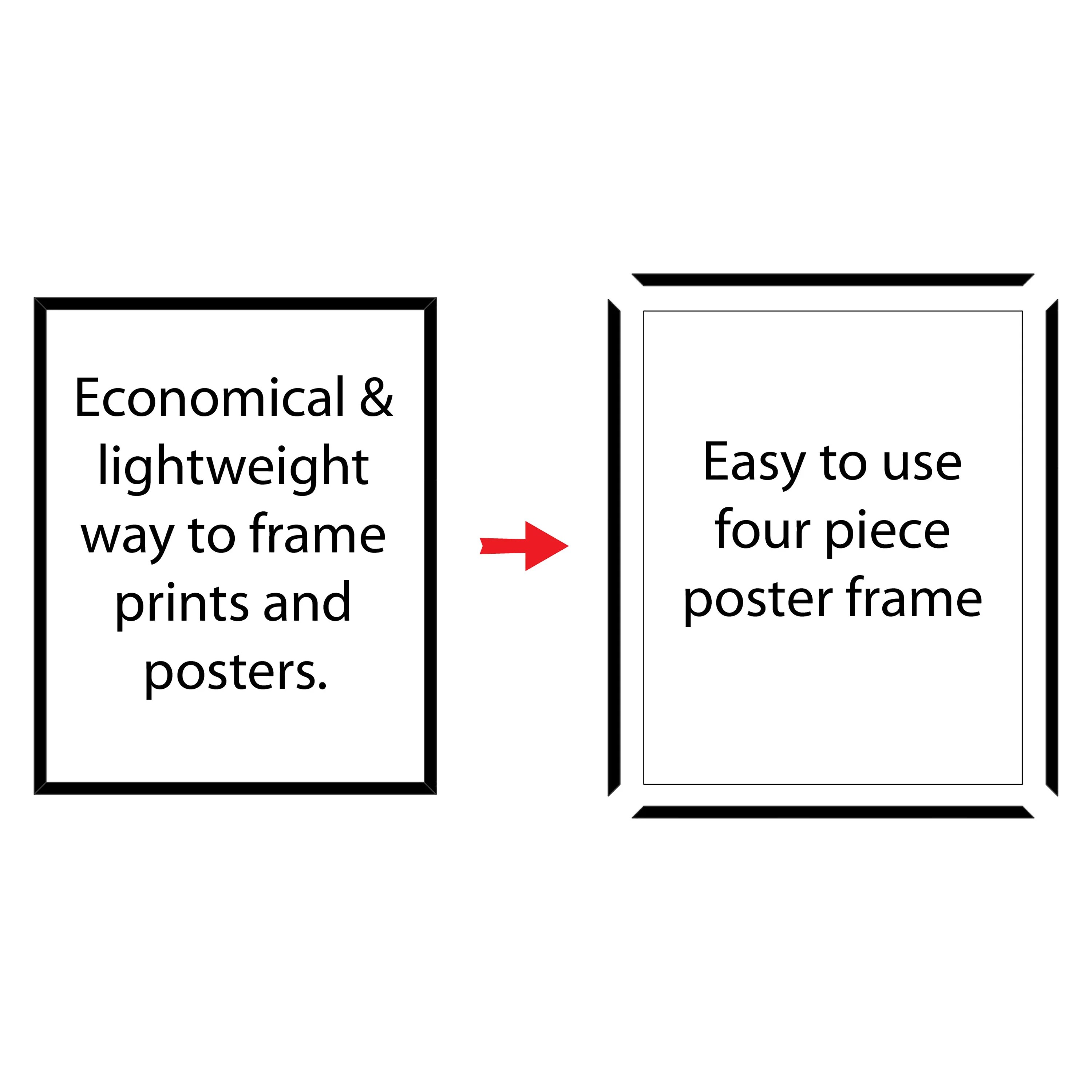 mainstays 24x36 thin poster and picture frame black