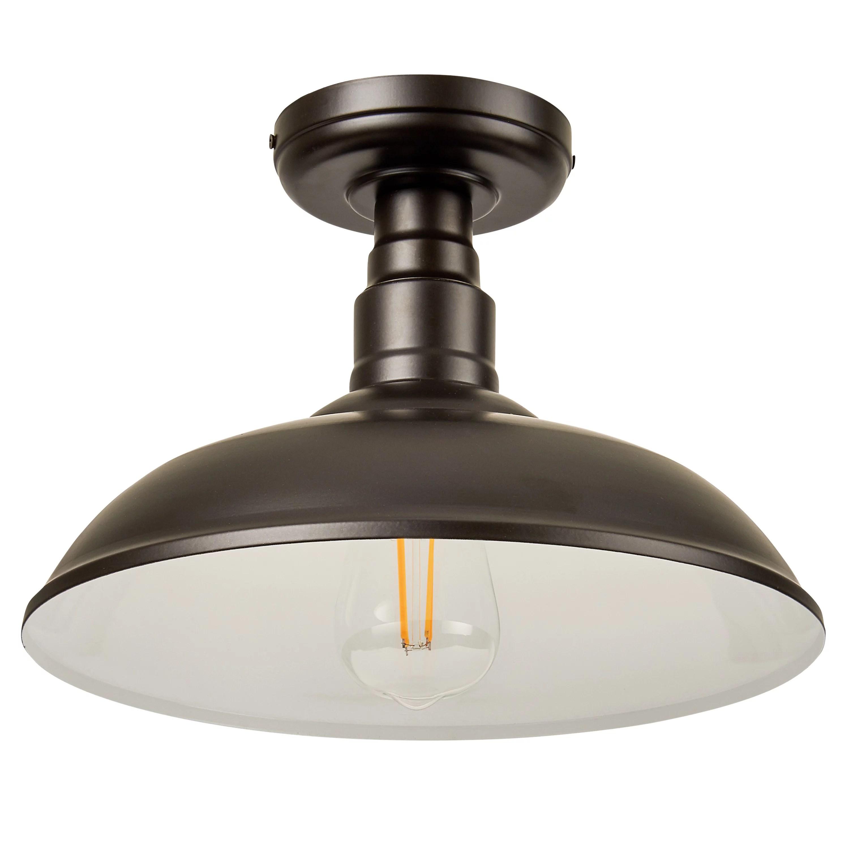 better homes gardens vintage farmhouse semi flush mount ceiling light bronze 40w