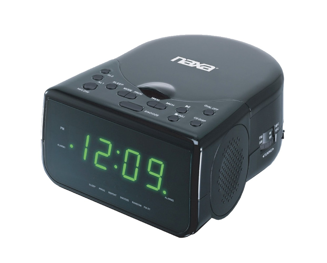 Victrola Bedside Digital LED Alarm Clock Stereo with CD Player and FM Radio,