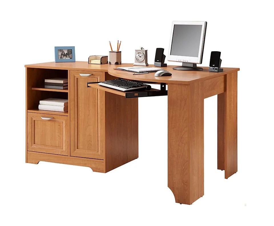 Realspace Magellan Collection Corner Desk Honey Maple