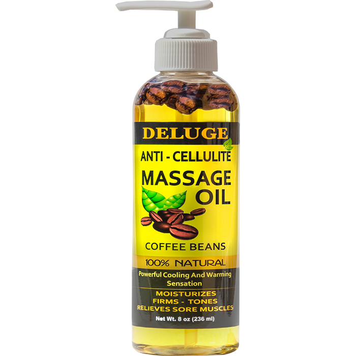 DELUGE  ANTICELLULITE MASSAGE OIL  With COFFEE BEANS