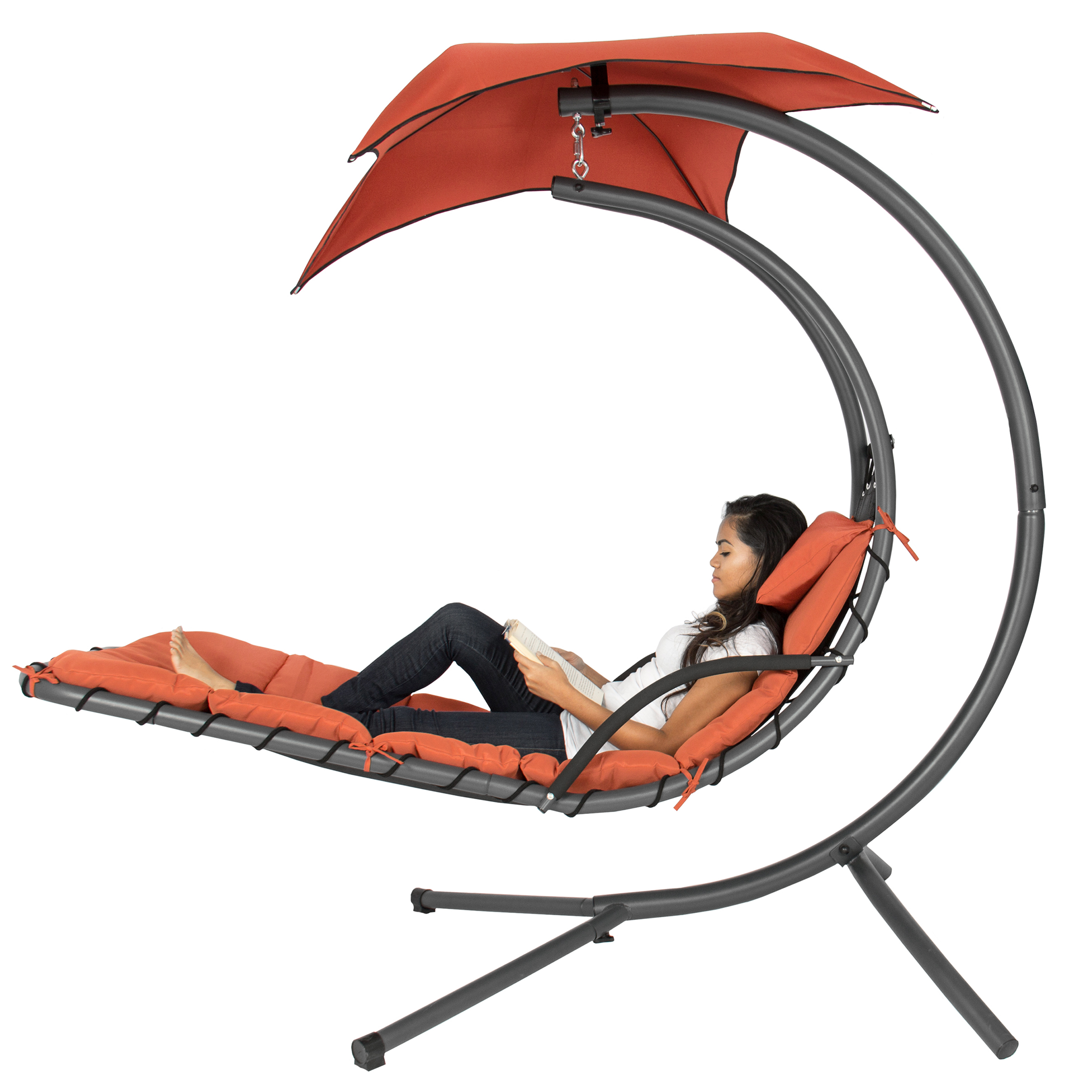 hammock chair with canopy office mat for carpet best choice products orange walmart com