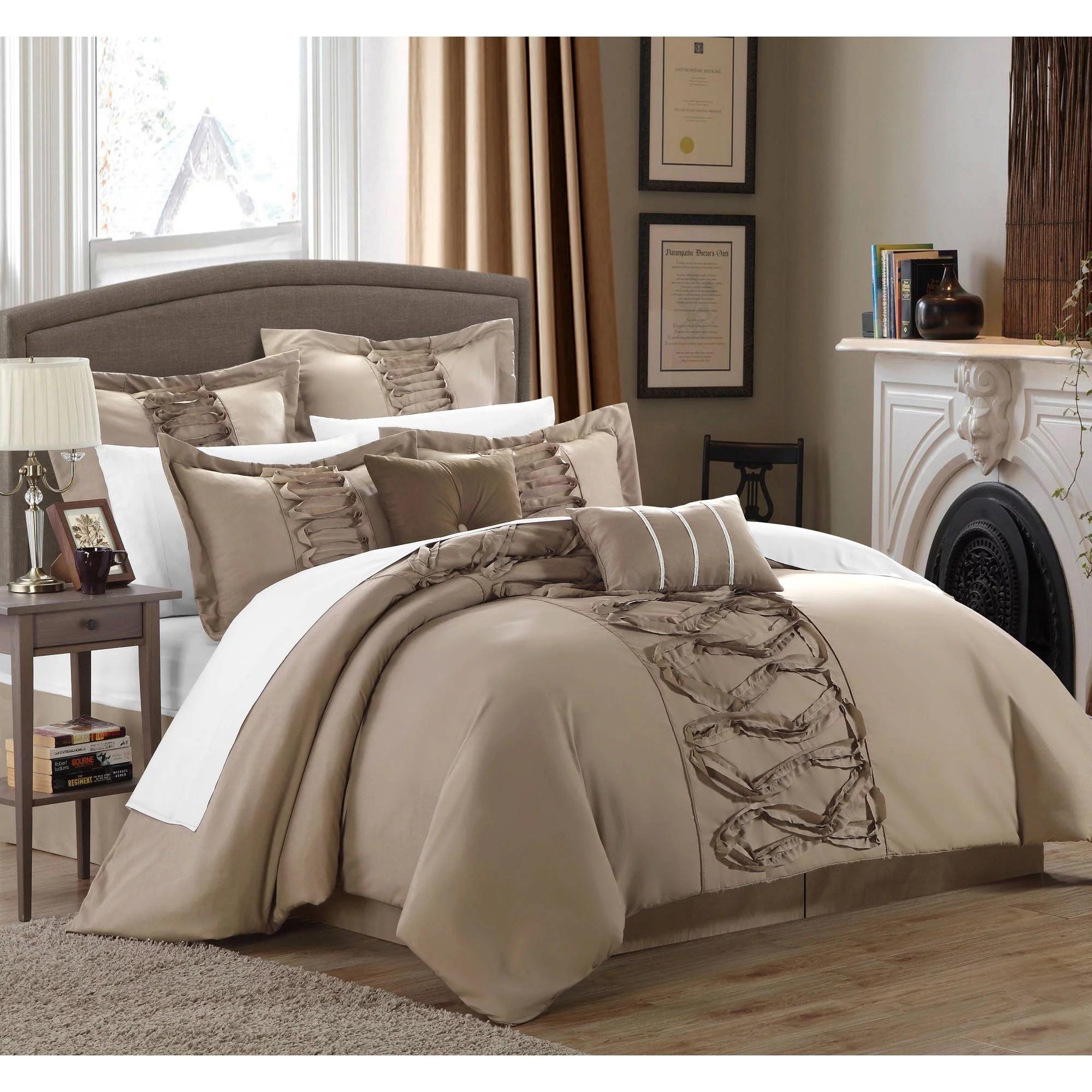 nancy 12 piece bed in a bag comforter set