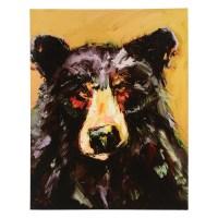 Black Bear Canvas Wall Art - CLEARANCE - Walmart.com
