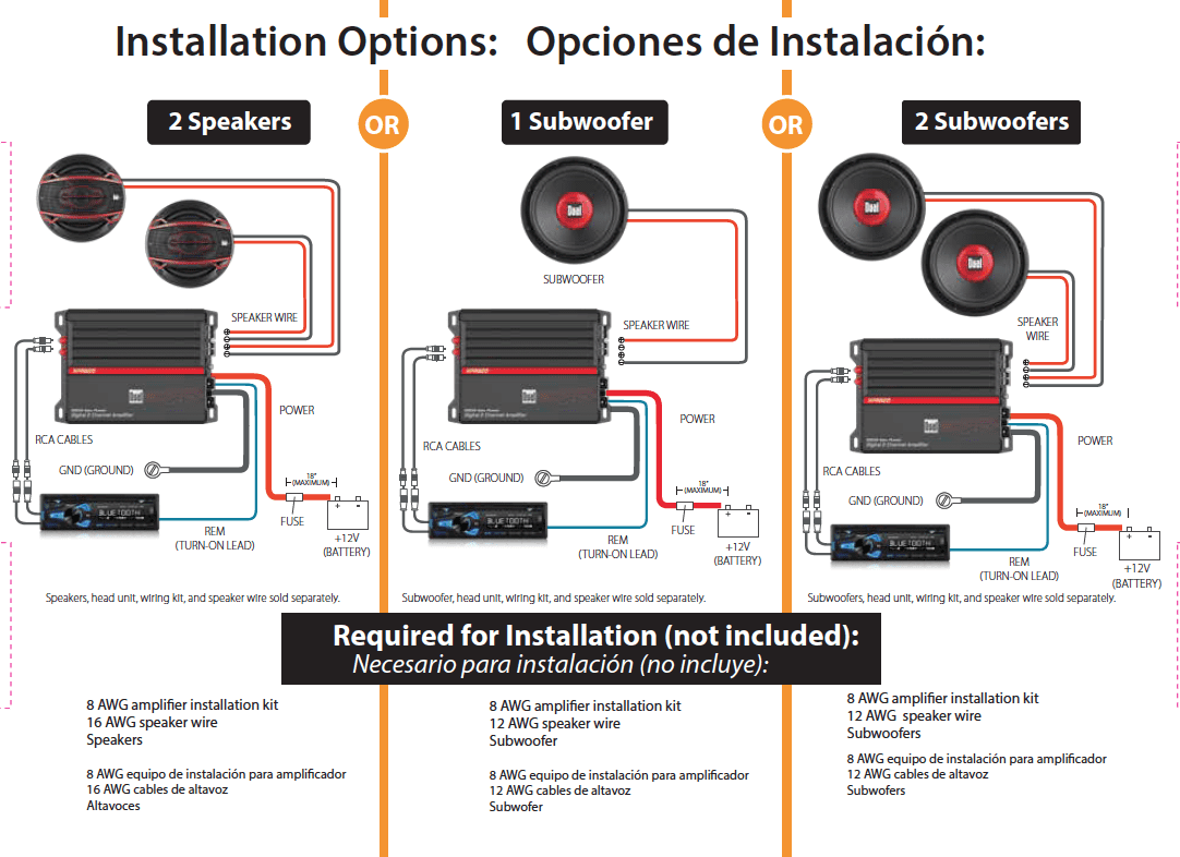 small resolution of wiring a subwoofer and amp