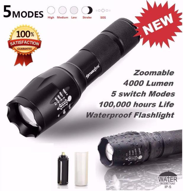 Tactical LED Flashlight G700 SkyWolfeye X800 Zoom Super Bright Military Grade - Walmart.com - Walmart.com