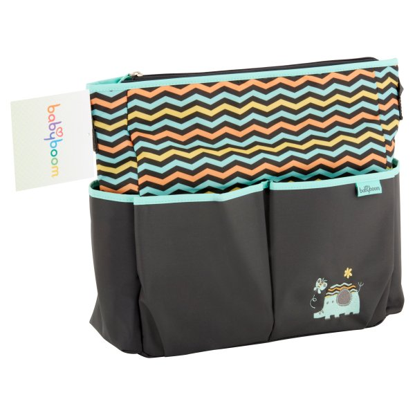 Baby Boom Elephant Kids Bag Organizer Diaper Tote 8 Pockets Shoulder Strap