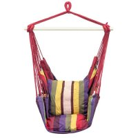 Hanging Rope Chair Swing, Red and Purple - Walmart.com