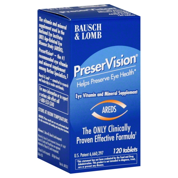 Bausch & Lomb PreserVision PreserVision Eye Vitamin and ...