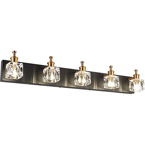 presde black bathroom lighting fixtures over mirror modern glass shade vanity lights wall sconce