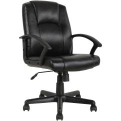 Desk Chair At Walmart Ergonomic In Chennai Mainstays Mid Back Leather Office Black Com Departments