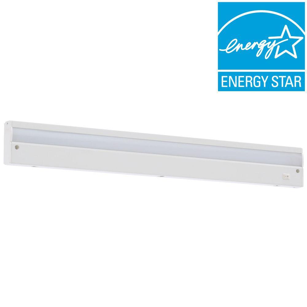 commercial electric 24 in led white direct wire under cabinet light 1001217457 walmart com
