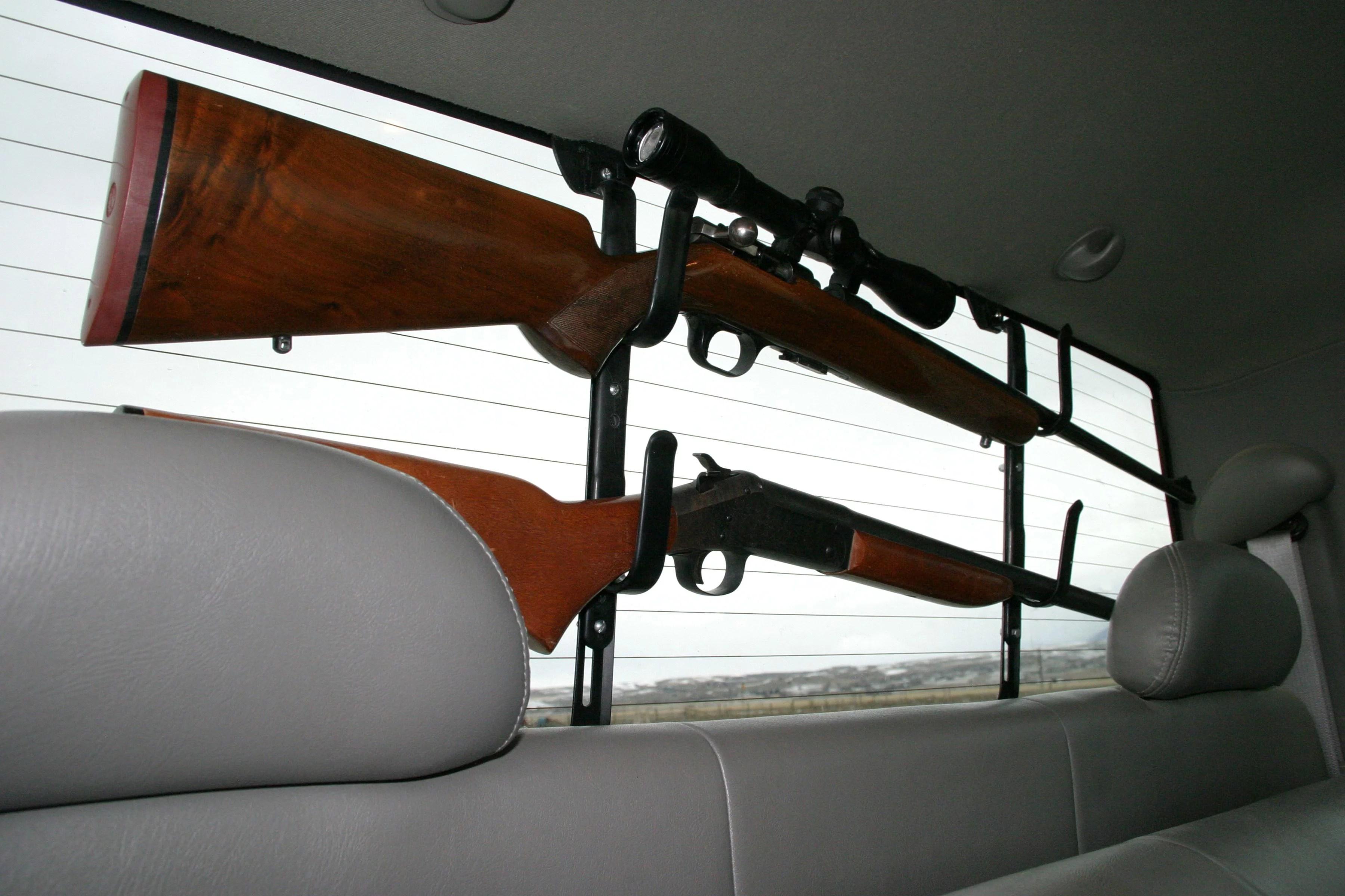 allen company metal gun bow truck window rack black