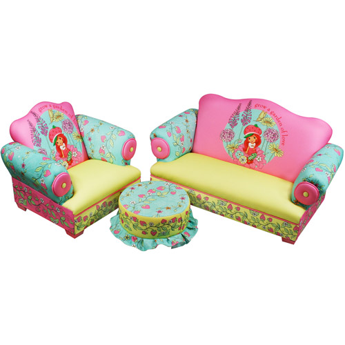 sofa chair for baby girl maxwell dfs strawberry shortcake polyester cha walmart com