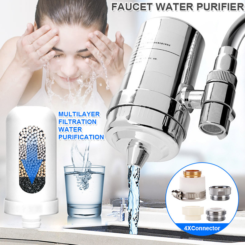 faucet water filter system kitchen bathroom sink mount filtration tap purifier