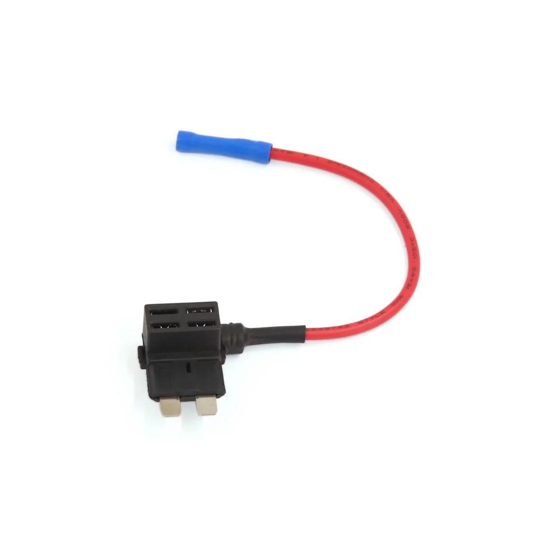 hight resolution of 12v 24v add a circuit piggy back pluggable standard tap fuse holder wiring walmart com