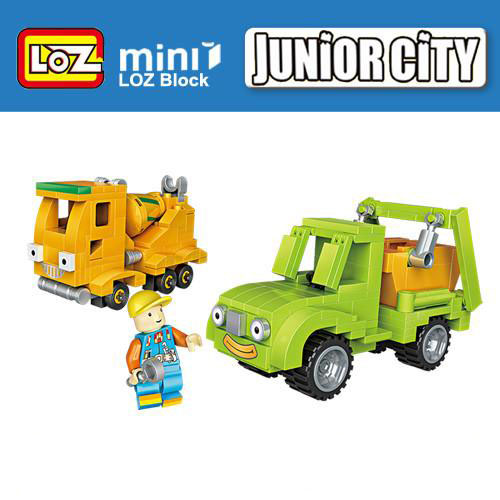 Loz Junior City Dump Mixer Truck Kids Puzzle Mini Block