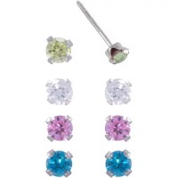 Multicolor Austrian Crystal 14kt Gold-Plated Clip Earrings ...