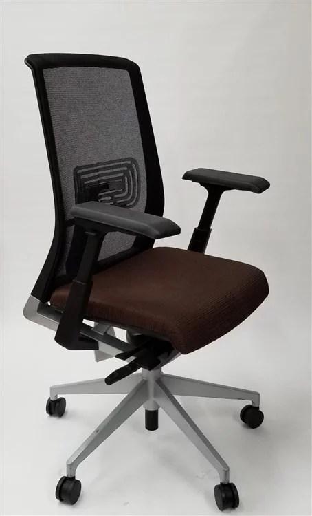 office chair very hugo transport parts haworth black mesh back fully adjustable model executive walmart com