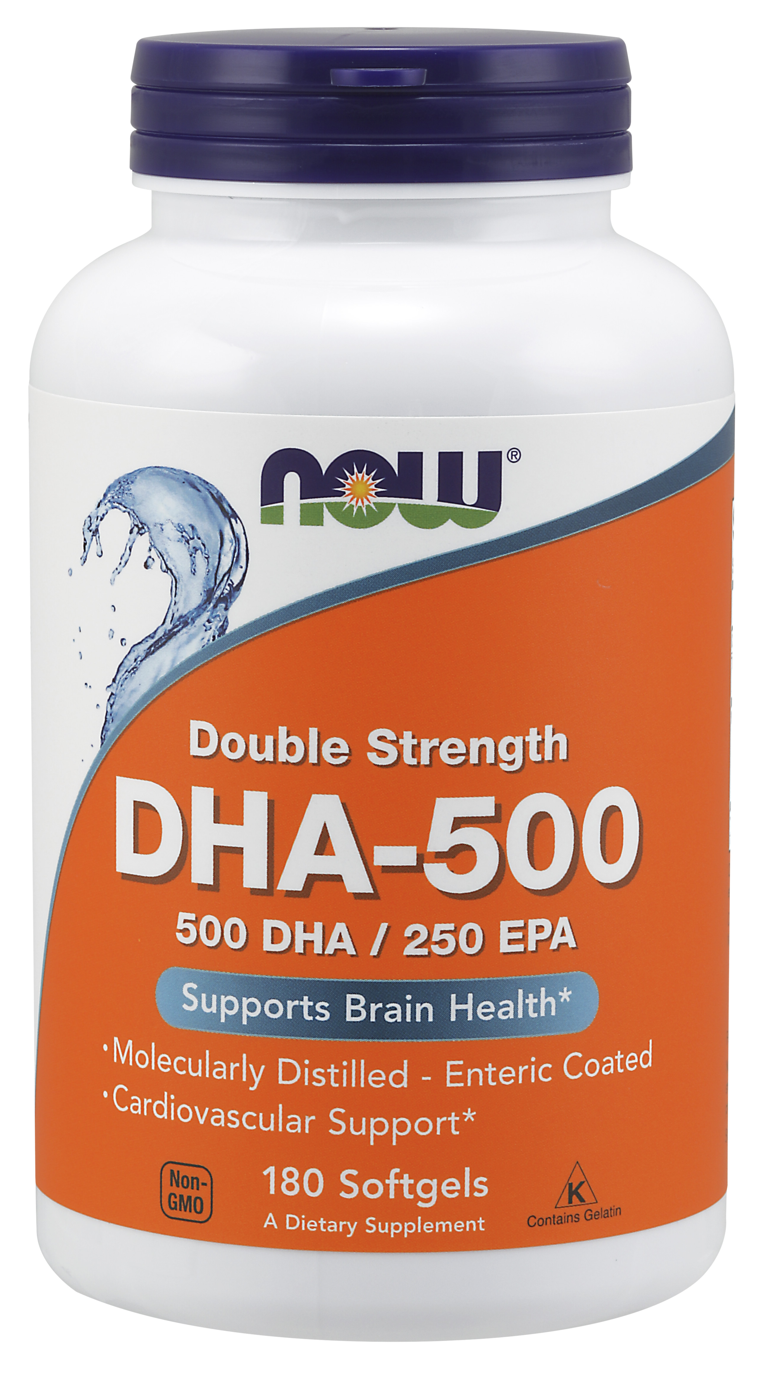 NOW Supplements DHA-500 with 250 EPA Molecularly ...