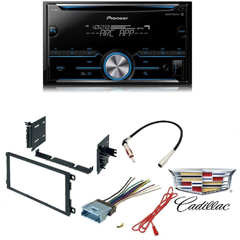 hight resolution of pioneer fh s500bt double din bluetooth in dash cd am fm car stereo receiver w pandora car radio stereo cd player dash kit buick cadillac chevrolet gmc