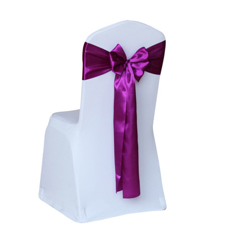 sashes for wedding chair covers doll high chairs satin cover bow banquet decor walmart com departments