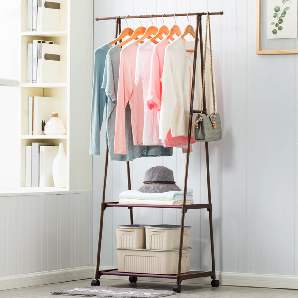 triangle coat rack steel tube removable large capacity clothes tree quilt shoes bags boxes hanger stand organizer