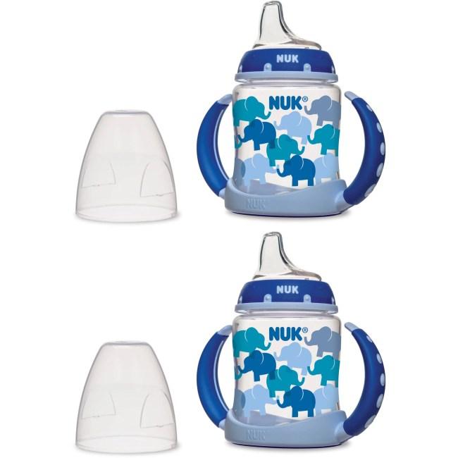 NUK 5-oz Learner Cup, Silicone Spout, Fashion Boy Designs, BPA-Free